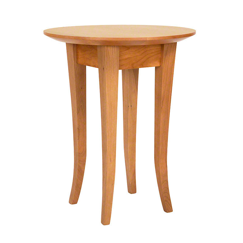 Classic Shaker Flare Leg Round End Table