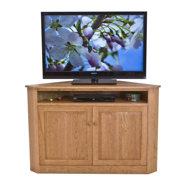 Solid Wood Corner Tv Stand Vermont Woods Studios