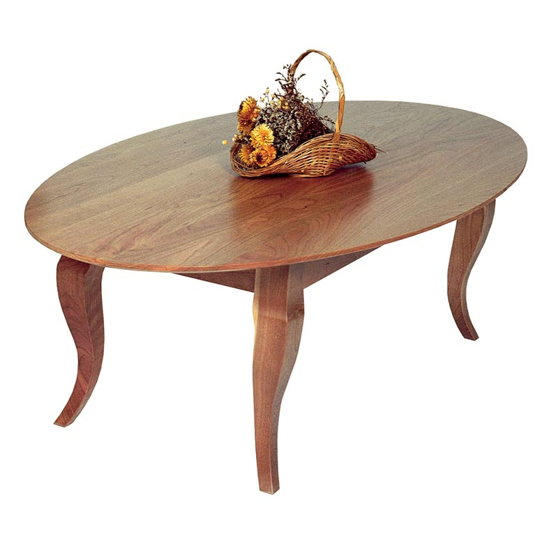 French Country Oval Coffee Table - French Country Oval Coffee Table - Vermont Woods Studios