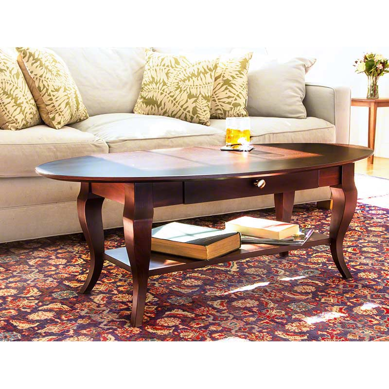 French Country Coffee Table And End Tables: French Country Oval Coffee Table