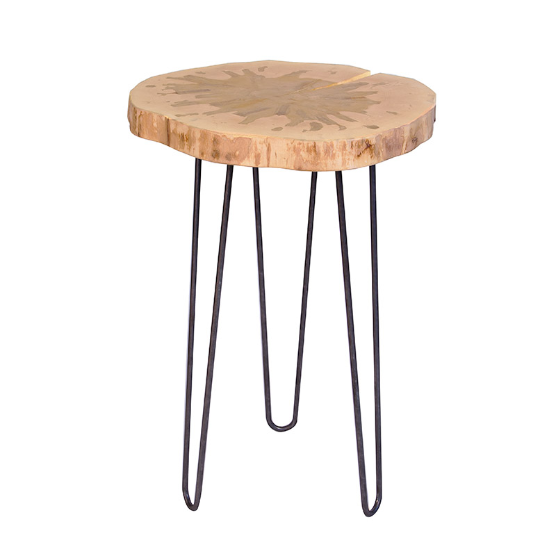 Tapped Vermont Maple Accent Table - Clearance