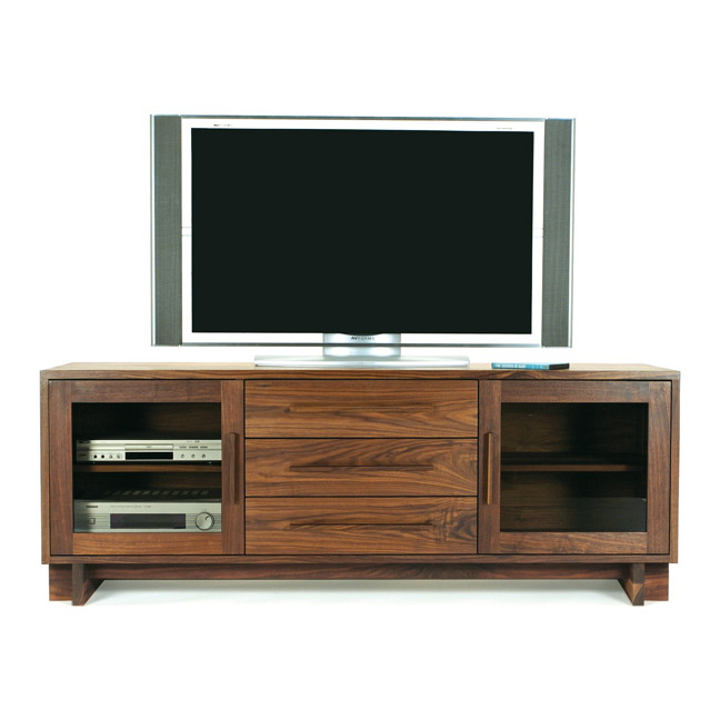 Modern TV Stand | Made in America | Eco-Friendly | Solid Hardwood with
