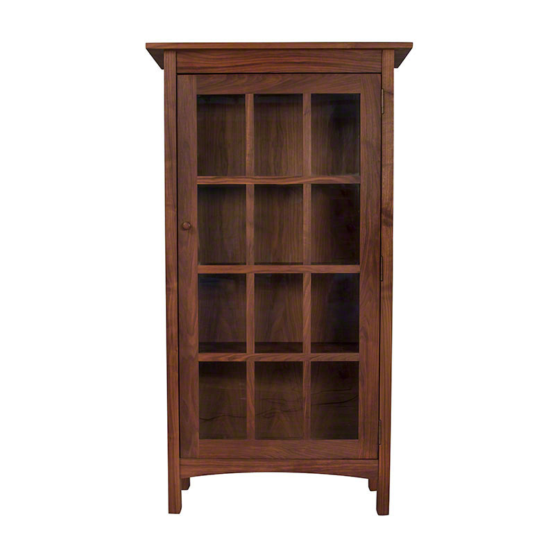 Modern Shaker Glass Door Bookcase