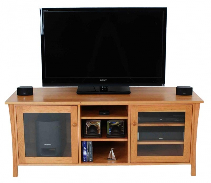 Andrews Natural Cherry Media Console 61""