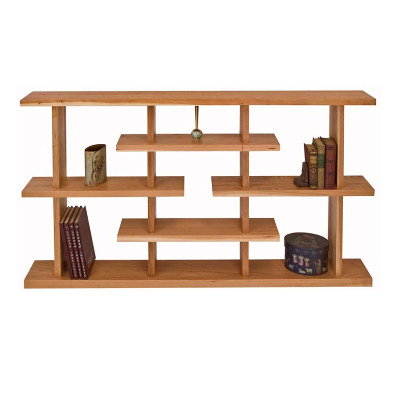 new york contemporary low step bookcase - Wood Bookshelves