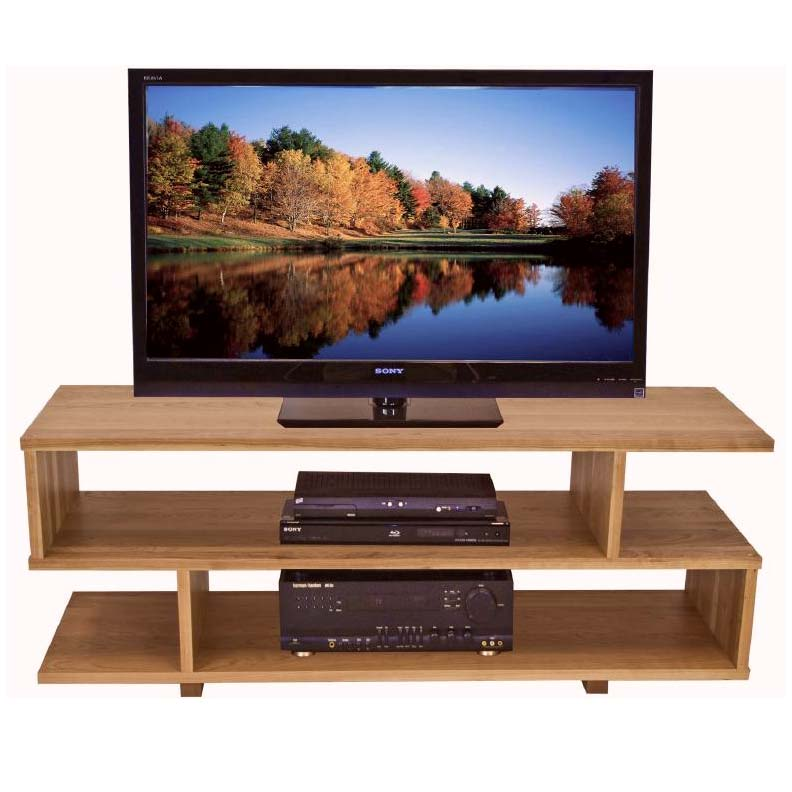 Contemporary Style TV Stand  Solid Wood Home Entertainment Furniture -> Contemporary Tv Stands
