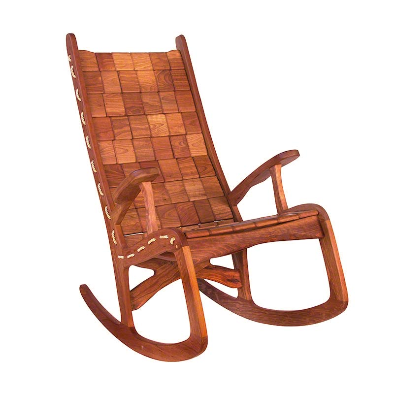 Unique Chair: Unique Quilted Vermont Rocking Chair. Hand Made Eco