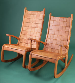 Beautiful Custom Quilted Vermont Rocking Chair