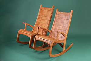 Custom Quilted Vermont Rocking Chair - Cherry