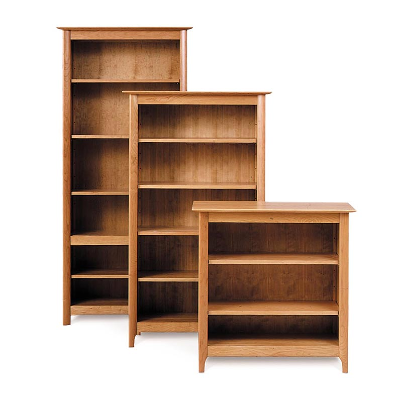 custom shaker cherry wood bookcases made in vt usa go