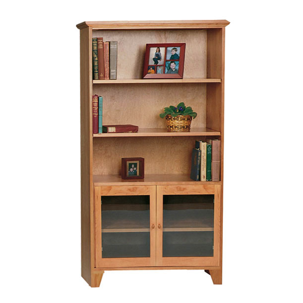 Shaker Bookshelves With Glass Doors Real Hardwood Office Furniture