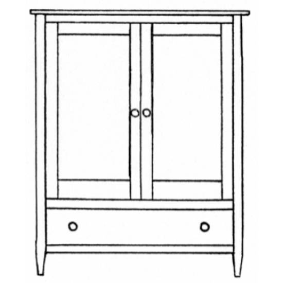 Vermont-Made Shaker TV-Media Armoire 40""