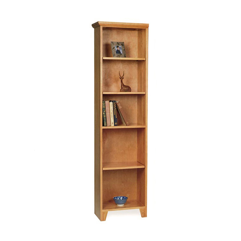 Tall Narrow Solid Wood Bookcase Vt Made Natural Wood