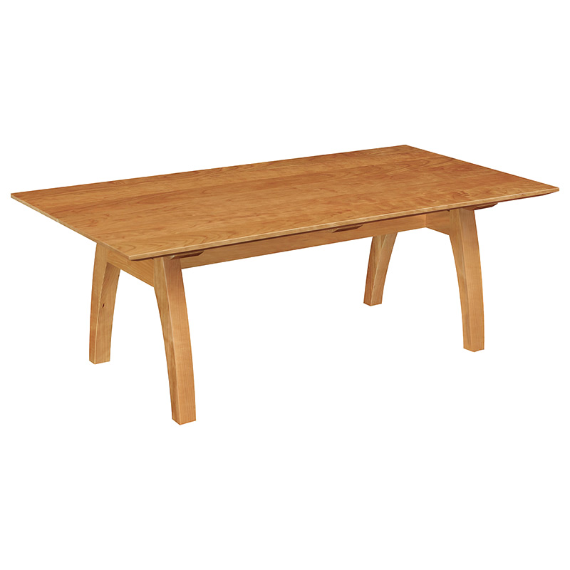 Vt modern trestle coffee table usa made solid wood for Trestle coffee table