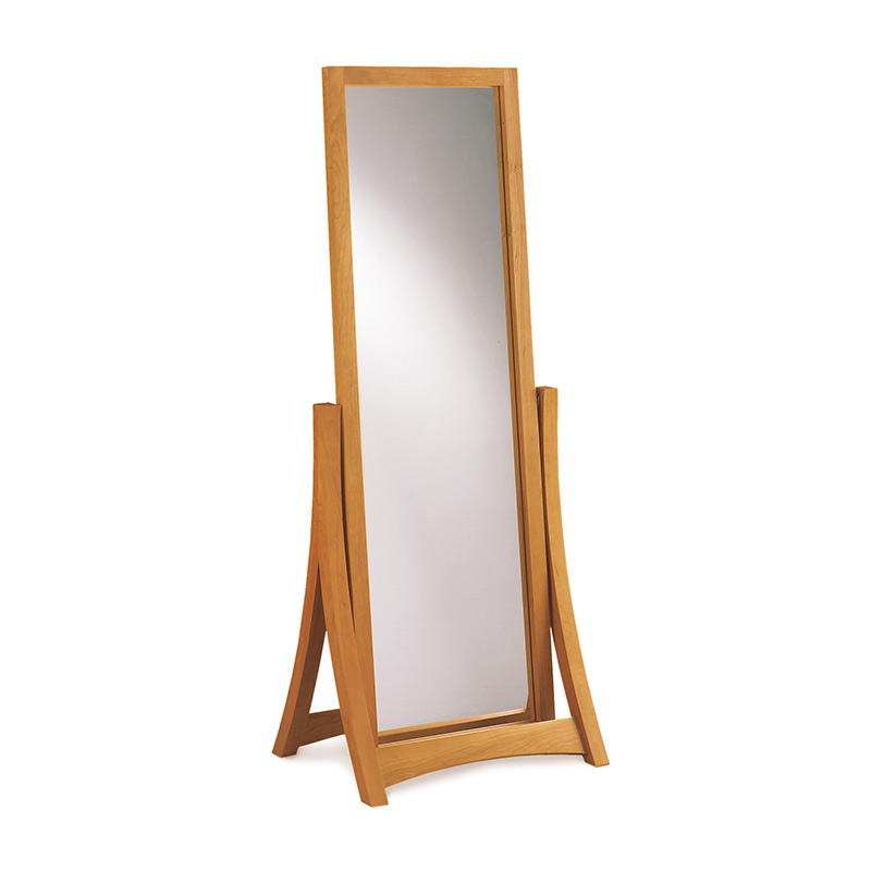Copeland Cherry Wood Floor Mirror on Cherry Dining Room Set