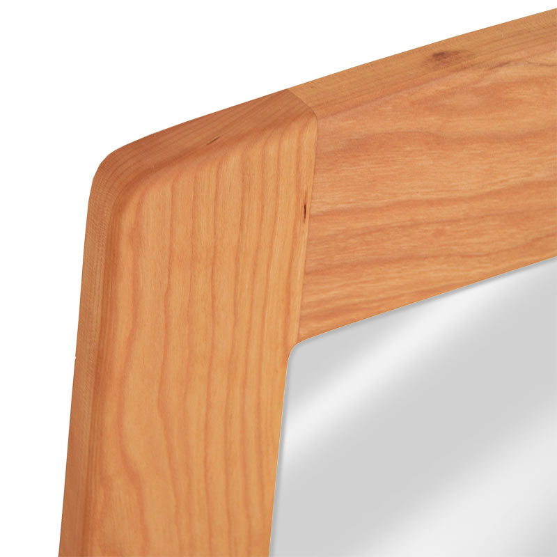 Three Posts Classic Horizontal Wall Décor Reviews: Natural Solid Cherry Wood Framed Wall Mirror