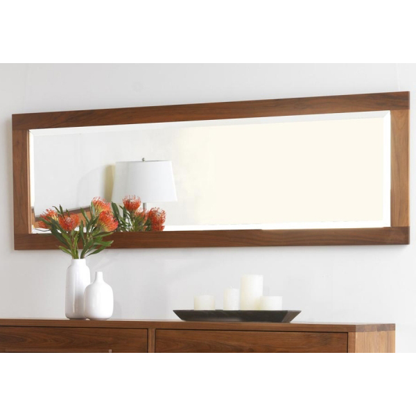 Shaker narrow accent wood frame mirror solid hardwood Modern full length mirror