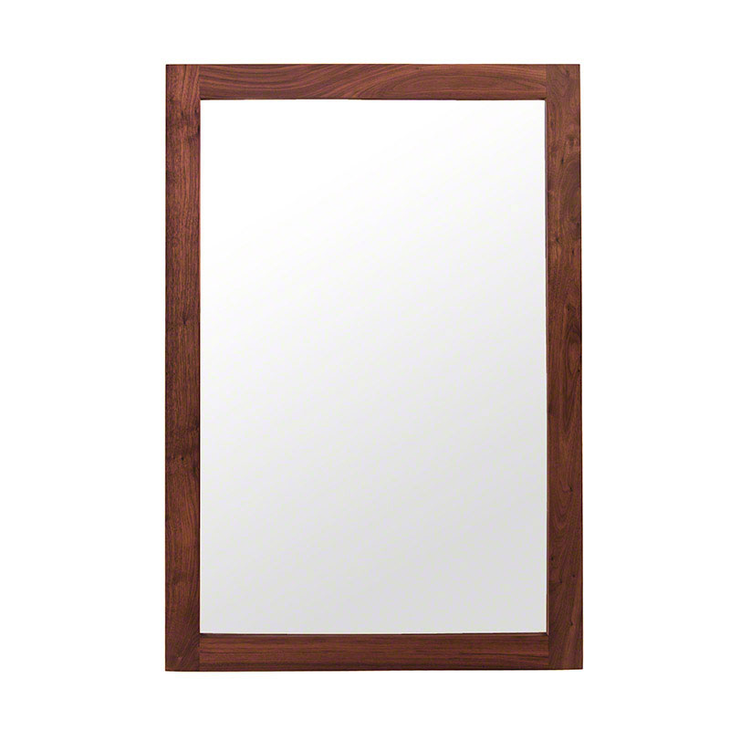 Modern Shaker Wall Mirror - Walnut - Clearance