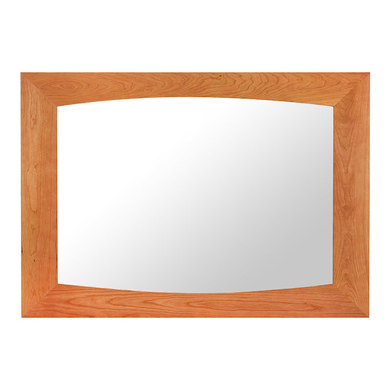 Natural Cherry Wood Mirror For Dresser Accent Or Hallway