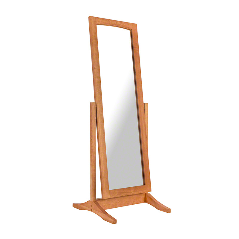 Shaker full length floor mirror natural cherry maple walnut oak