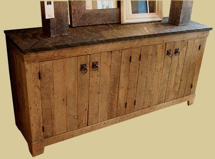Antique Barnwood 4 Door Buffet