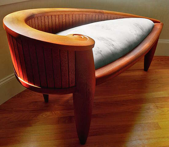 Custom Mahogany Loveseat