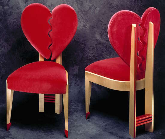Heart Shaped Valentine Chairs