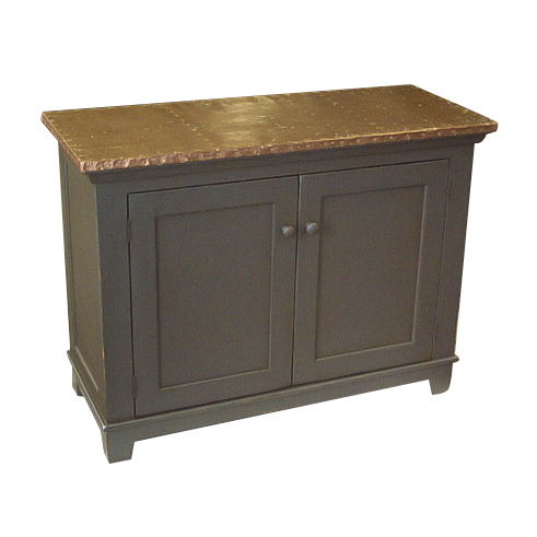 Barnwood Buffet with Copper Top