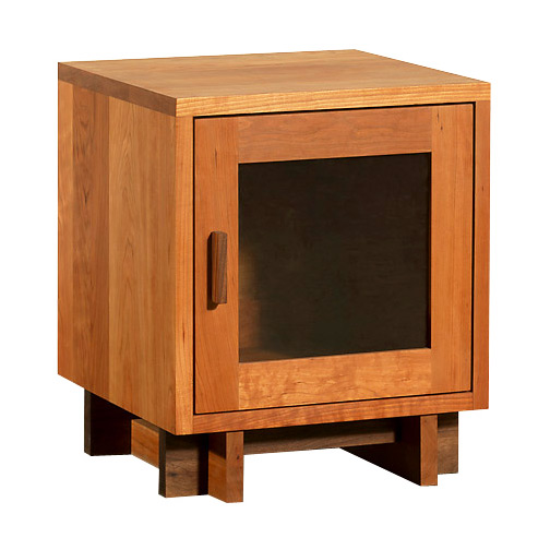 Modern American Glass Door Nightstand