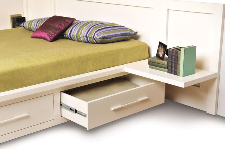 Matching Integrated Shelf Nightstand Copeland Moduluxe