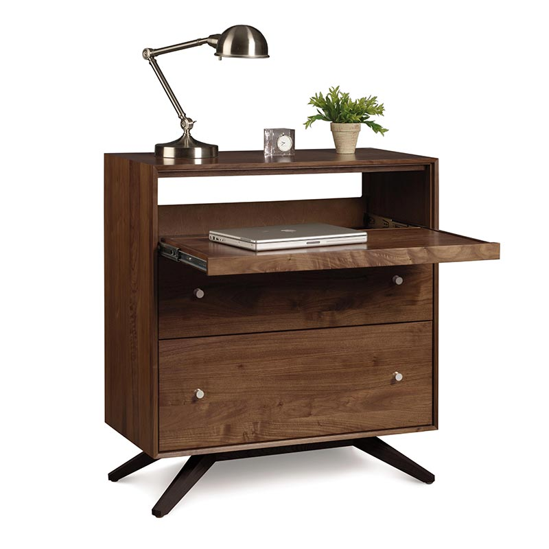 Astrid Walnut Laptop Desk | Small Compact Computer Workstation