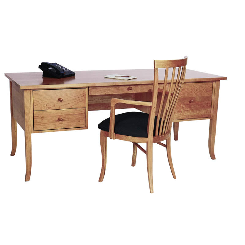 cherry wood executive desk home or office solid wood