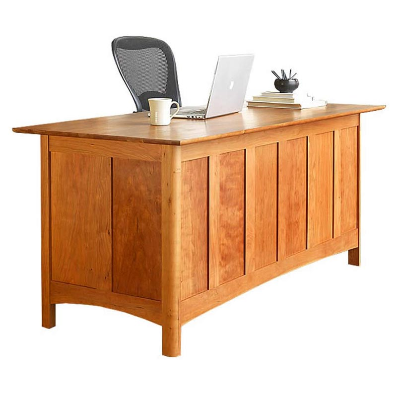 Shaker Executive Solid Wood Desk   Real Cherry, Maple, or Walnut