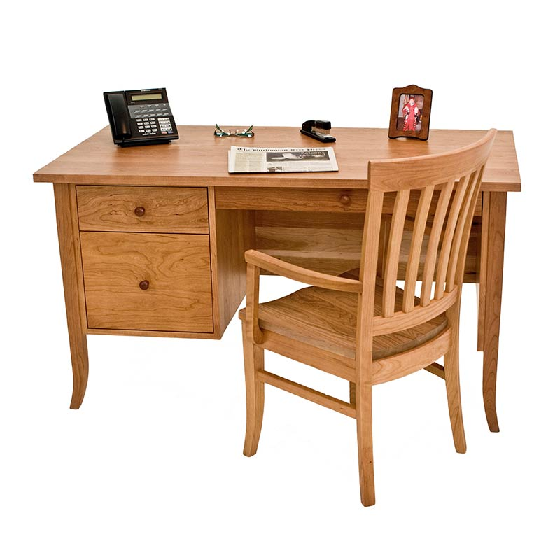 small wood executive desk solid natural cherry maple walnut or