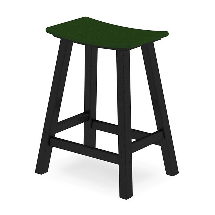 Recycled Plastic 2 Color Saddle Seat Counter Stool Best