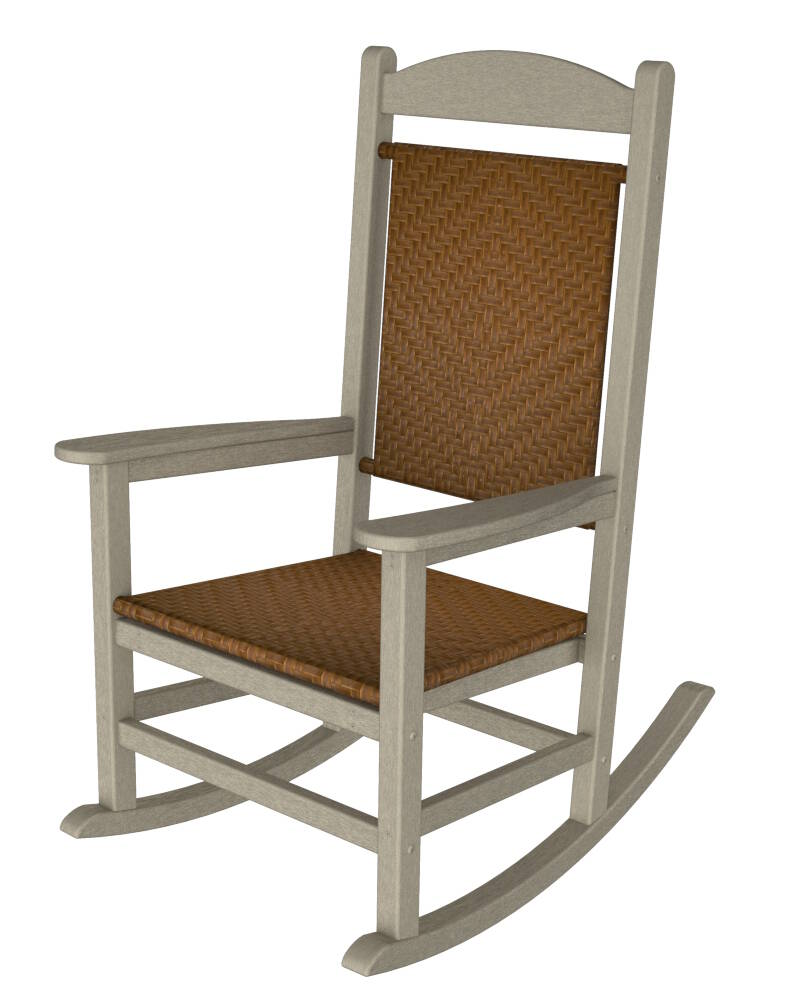 Presidential Woven Wicker Outdoor Rocking Chair