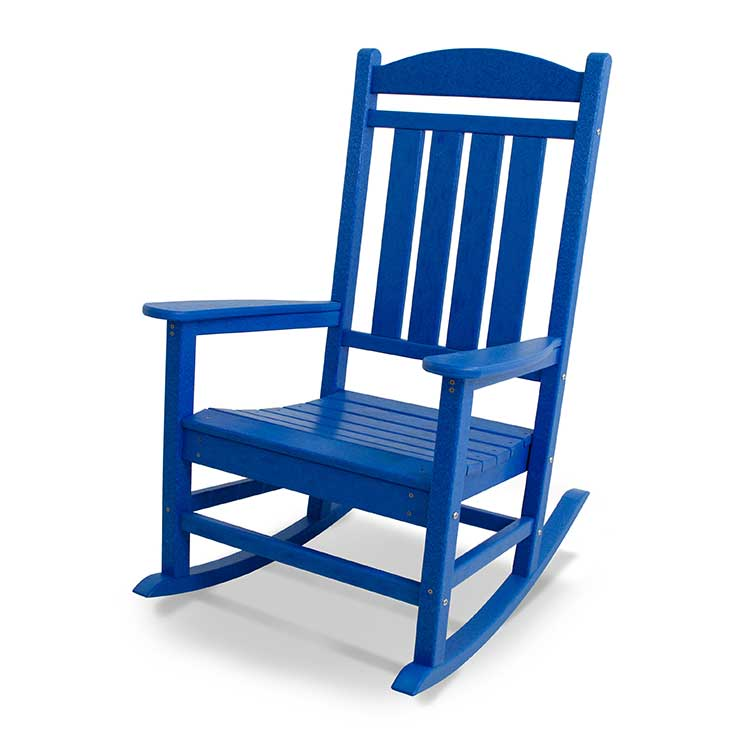 Presidential Outdoor Rocking Chair - Blue
