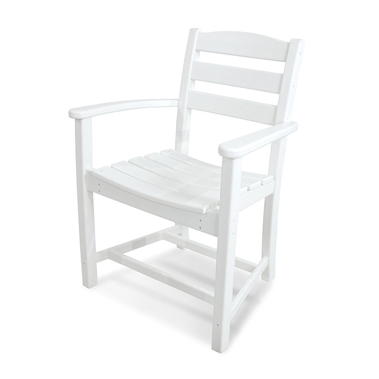 La Casa Cafe Outdoor Dining Arm Chair - White