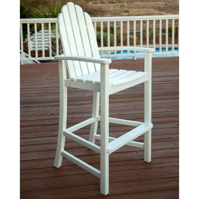 adirondack bar chairs recycled plastic faux wood all weather