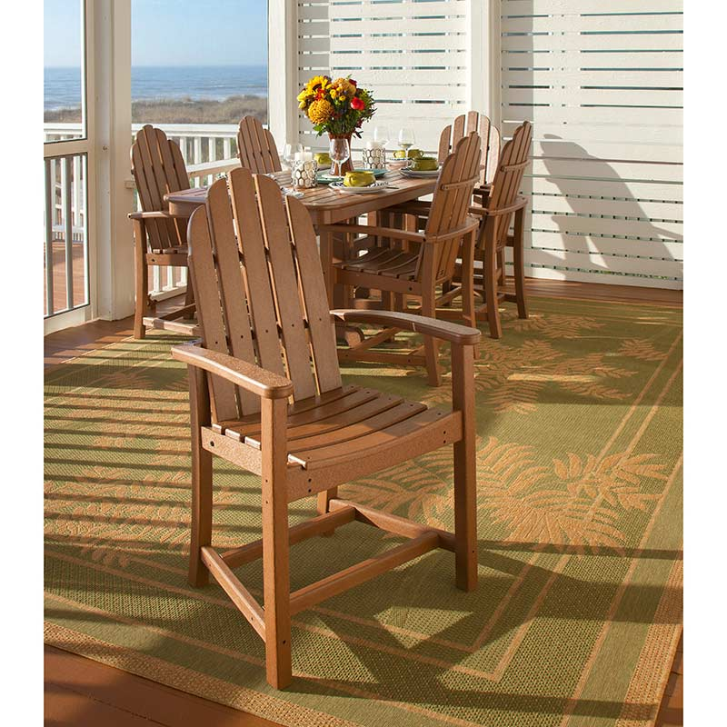Adirondack All Weather Outdoor Dining Chairs Recycled Plastic Faux Wood