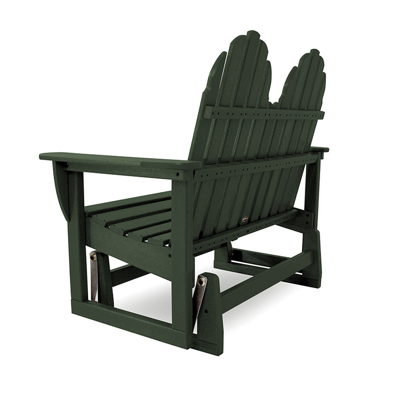 Adirondack Glider Bench - Adirondack Outdoor Glider Bench Polywood All Weather Durable