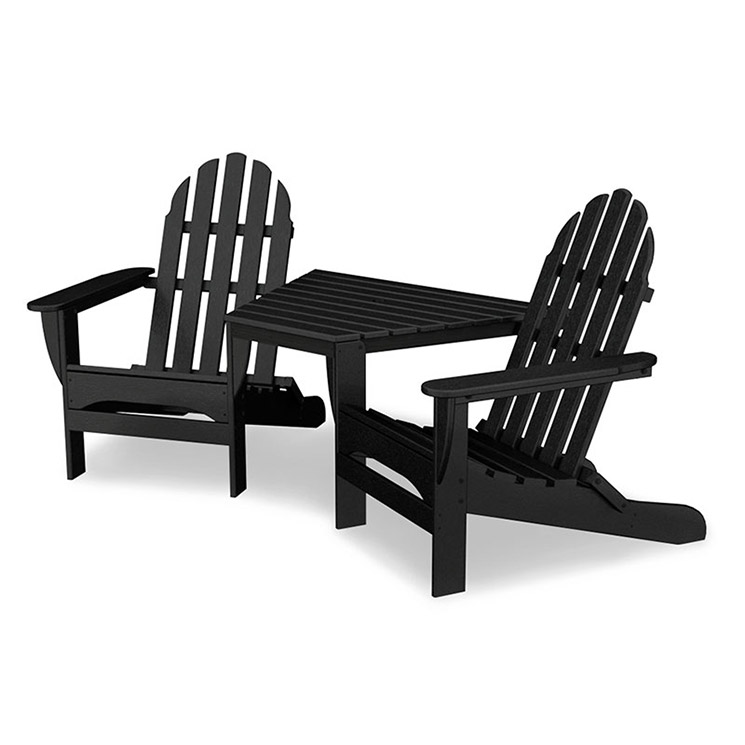 polywood adirondack tete a tete chairs weatherproof. Black Bedroom Furniture Sets. Home Design Ideas