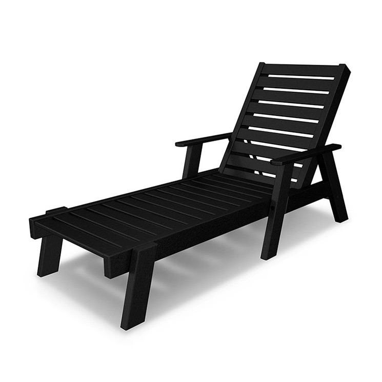 Polywood Captain Chaise Lounge Chair (with Arms) - Vermont ...