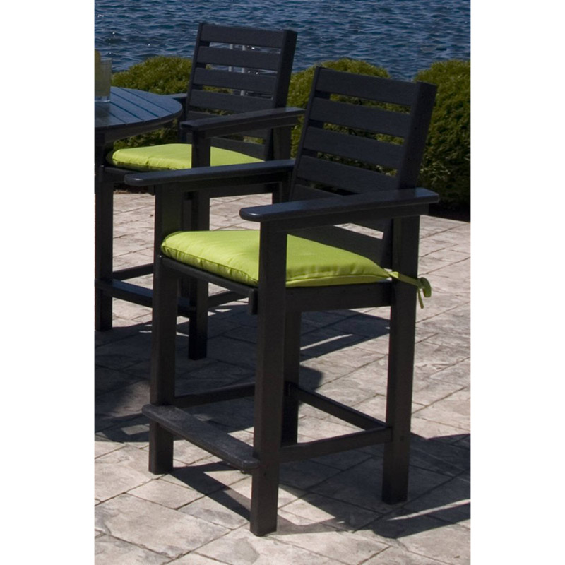 Outdoor Counter Height Arm Chair Polywood Weatherproof Dining Chairs