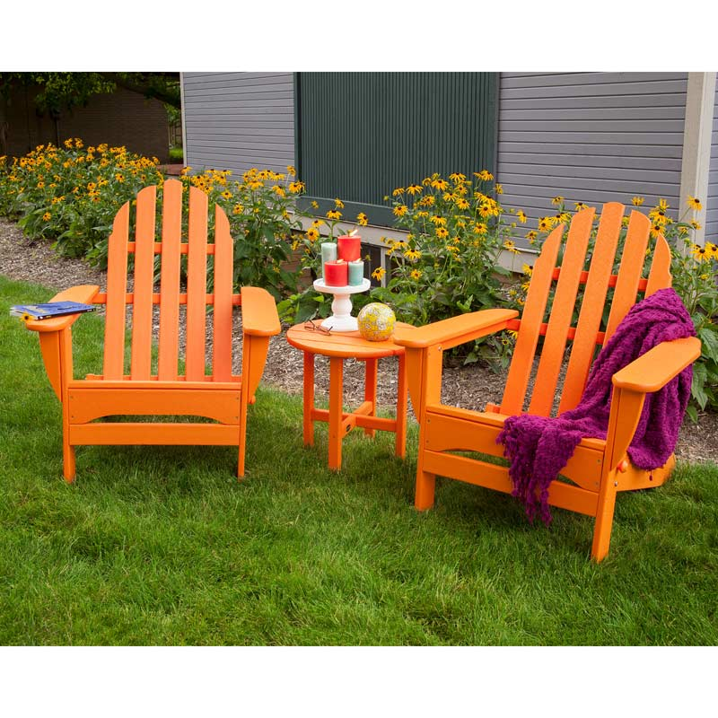 polywood recycled plastic adirondack chairs maintenance free colored