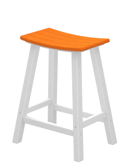 Counter Height Saddle Stools : Recycled Plastic 2 Color Saddle Seat Counter Stool Best All Weather ...