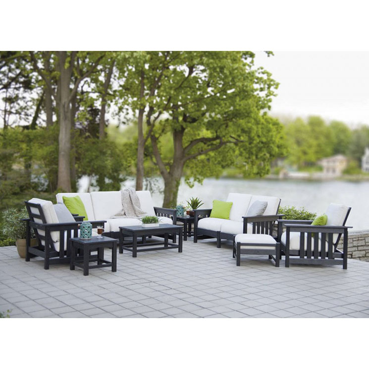 Polywood Deep Seating Club Mission Sofa Couch Outdoor