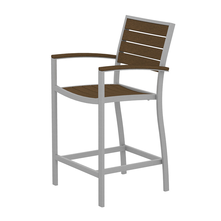 Euro Aluminum Counter Arm Chair