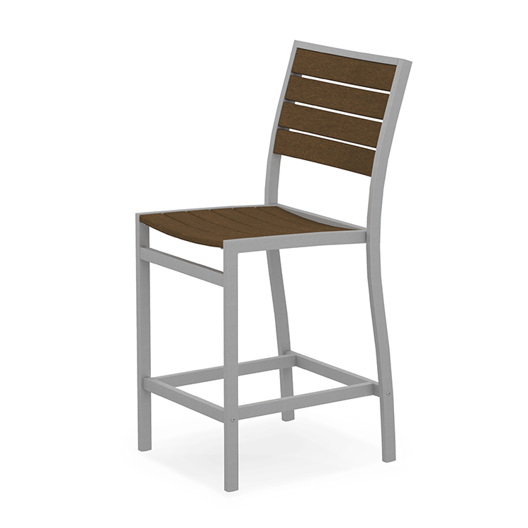Outdoor Euro Counter Height Side Chair Polywood High End