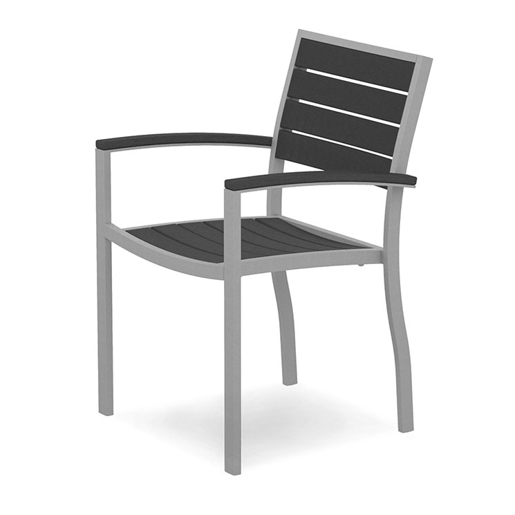 Euro Aluminum Dining Arm Chair